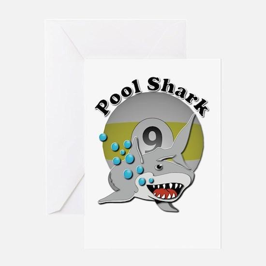 Nine Ball Pool Shark Greeting Cards