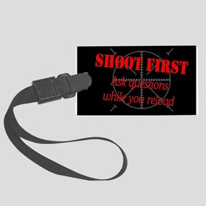 ASK QUESTIONS WHILE RELOAD Large Luggage Tag