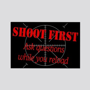 ASK QUESTIONS WHILE RELOAD Rectangle Magnet