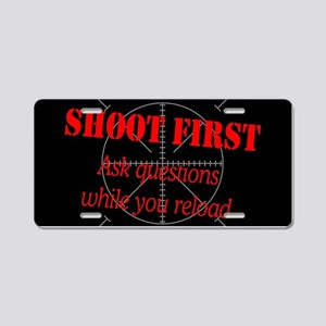 ASK QUESTIONS WHILE RELOAD Aluminum License Plate