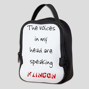 ARE SPEAKING KLINGON Neoprene Lunch Bag