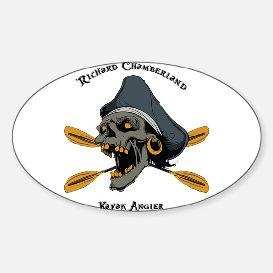 Cute Kayak fishing kayak Sticker (Oval)