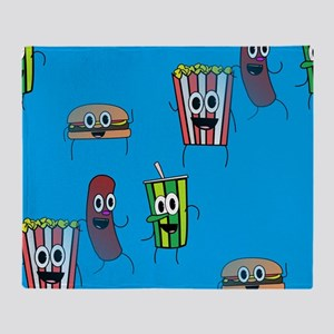 movie popcorn Throw Blanket