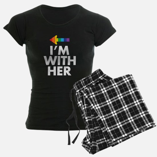 I Am With Her - I Am With Him Gay Couples Design P