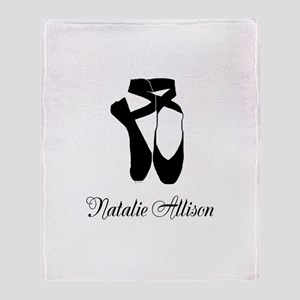 Team Pointe Ballet Midnight Personal Throw Blanket