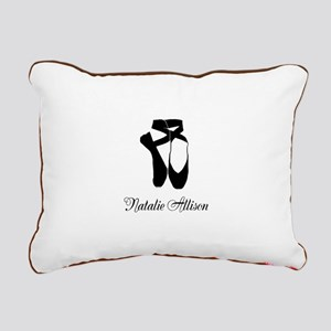 Team Pointe Ballet Midni Rectangular Canvas Pillow