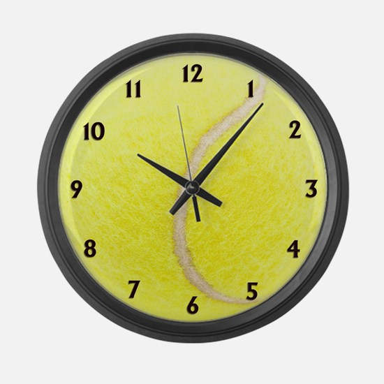 Tennis Sport Clock Large Wall Clock