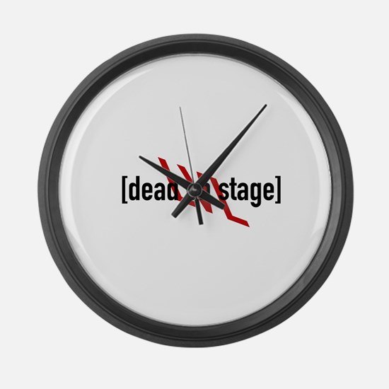 On Stage Large Wall Clock