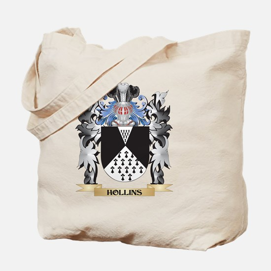 Hollins Coat of Arms - Family Crest Tote Bag