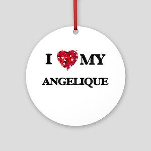 I love my Angelique Ornament (Round)
