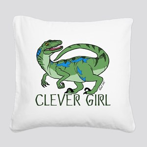 Clever Girl Square Canvas Pillow