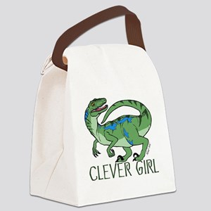 Clever Girl Canvas Lunch Bag