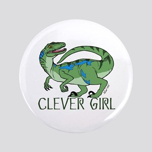 Clever Girl Button