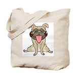 Happy Pug Tote Bag