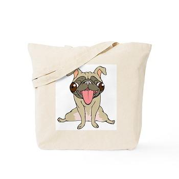 Happy Pug Tote Bag