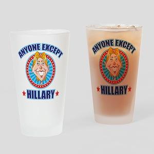Anti-Hillary Drinking Glass