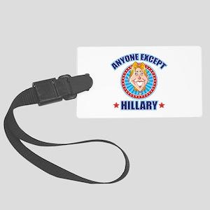Anti-Hillary Large Luggage Tag