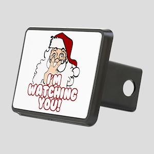 Santa Claus Is Watching Yo Rectangular Hitch Cover