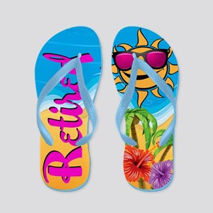 Retired Tropical Beach Flip Flops