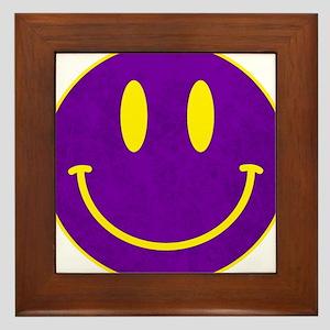 Happy FACE Louisiana State Framed Tile