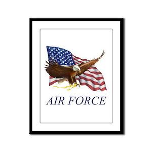 USAF Air Force Framed Panel Print