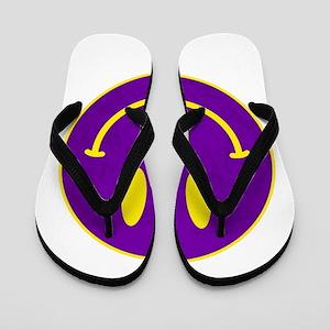 Happy FACE Louisiana State Flip Flops