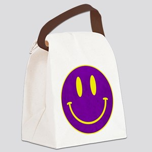Happy FACE Louisiana State Canvas Lunch Bag