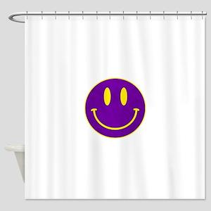 Happy FACE Louisiana State Shower Curtain