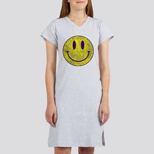 Happy FACE Louisiana State Vint Women's Nightshirt