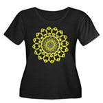 Yellow Feathered Nest Women's Plus Size Scoop Neck