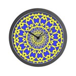 Yellow Feathered Nest Wall Clock