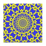 Yellow Feathered Nest Tile Coaster