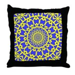 Yellow Feathered Nest Throw Pillow