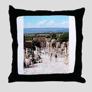 Ruins of Ephesus Throw Pillow