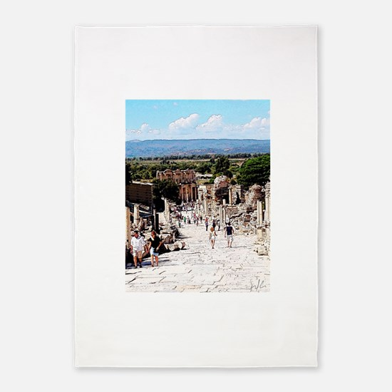 Ruins of Ephesus 5'x7'Area Rug