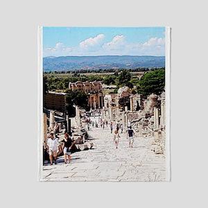 Ruins of Ephesus Throw Blanket
