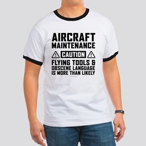 Aircraft Maintenance Caution T-Shirt