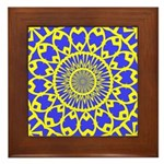 Yellow Feathered Nest Framed Tile