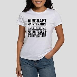 Aircraft Maintenance Caution T-Shirt