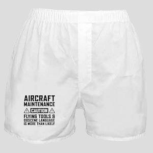 Aircraft Maintenance Caution Boxer Shorts