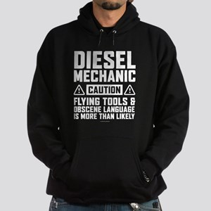 Diesel Mechanic Caution Hoodie (dark)