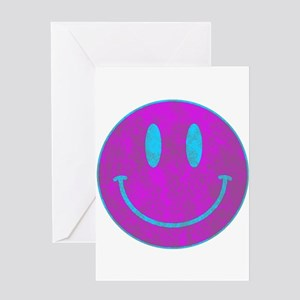 Happy FACE Turq EYES Greeting Cards