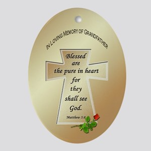 In Loving Memory of Grandfather Oval Ornament