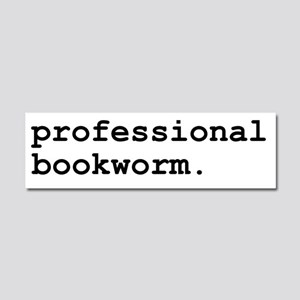 Professional Bookworm Car Magnet 10 x 3