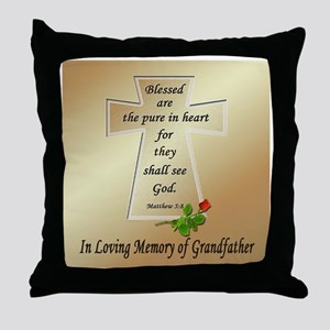 In Loving Memory of Grandfather Throw Pillow