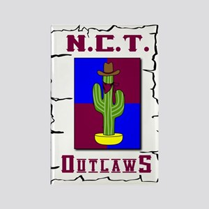 N.C.T. Outlaws Rectangle Magnet