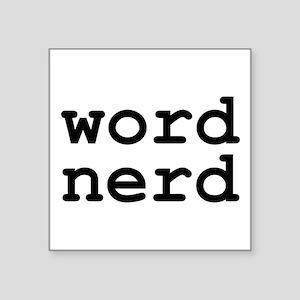 Word Nerd Sticker