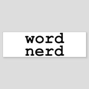 Word Nerd Bumper Sticker