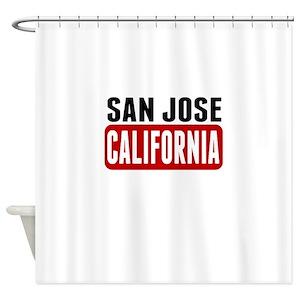 San Jose California Shower Curtains
