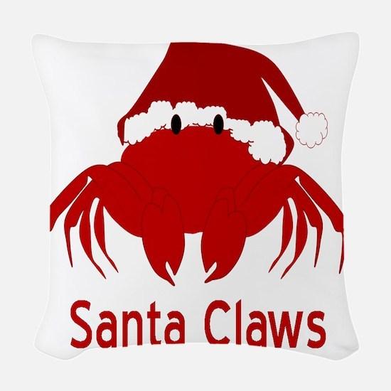 Santa Claws Woven Throw Pillow